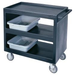Cambro - BC235110 - 37 1/4 in X 21 1/2 in 3-Tier Black Service Cart image