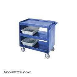 Cambro - BC2354S401 - 37 1/4 in X 21 1/2 in Blue Service Cart image