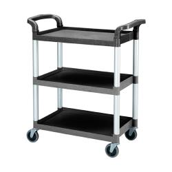Cambro - BC331KD - 32 7/8 in X 16 1/4 in Black Service Cart image