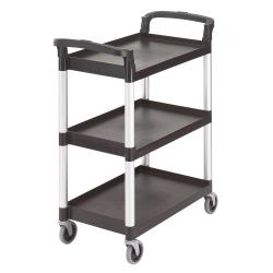 Cambro - BC331KD110 - 32 7/8 in X 16 1/4 in 3-Tier Black Service Cart image