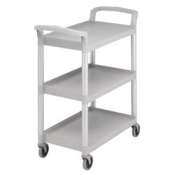Cambro - BC331KD480 - 32 7/8 in X 16 1/4 in 3-Tier Gray Service Cart image
