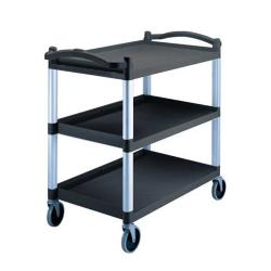 Cambro - BC340KD110 - 40 in x 21 1/4 in 3-Tier Black Utility Cart image