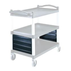 Cambro - BC340KDP - Speckled Gray Utility Cart Shelf Panel Set image