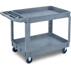Carlisle - UC452523 - 45 in x 25 in 2-Tier Gray Utility Cart image