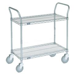 Commercial -  - 18 in x 36 in 2-Tier Chrome Wire Cart image