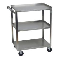 Focus Foodservice - 90322 - 18 in x 27 in Stainless Steel Utility Cart image