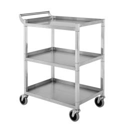 GSW - C4222 - 17 1/2 in x 33 1/2 in 3-Tier Stainless Steel Bus Cart image