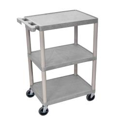 Luxor - HE-34-G - 24 in x 18 in Gray Utility Cart image