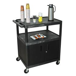 Luxor - HE40C-B - 32 in x 24 in 3-Tier Coffee Service Cart image