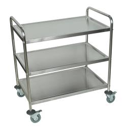 Luxor - ST-3 - 33 1/2 in x 21 in 3-Tier Stainless Steel Utility Cart image