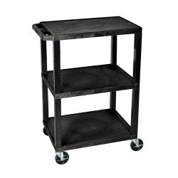 Luxor - WT34S - 24 in x 18 in Black Utility Cart image