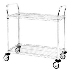 Metro/Intermetro - MW605 - 36 in x 18 in Chrome Wire Cart image