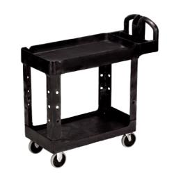 Rubbermaid - FG452088BLA - 45 1/4 in x 25 7/8 in 2-Tier Black Utility Cart image