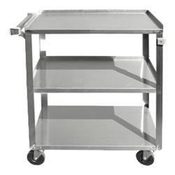 Update - BC-2415SS - 27 in x 16 1/4 in 3-Tier Stainless Steel Utility Cart image