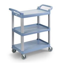 Vollrath - 97005 - 40 1/4 in x 19 7/8 in 3-Tier Gray Utility Cart image