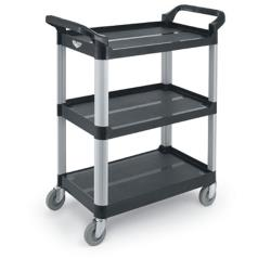 Vollrath - 97006 - 33 in x 16 13/16 in 3-Tier Black Utility Cart image