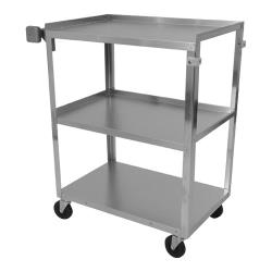 Vollrath - 97120 - 27 1/2 in x 15 1/2 in 3-Tier Stainless Steel Utility Cart image