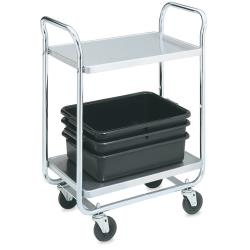 Vollrath - 97161 - 40 1/2 in x 21 in 2-Tier Stainless Steel Utility Cart image