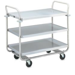 Vollrath - 97168 - 27 1/2 in x 15 1/2 in Black Service Cart image