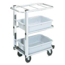 Vollrath - 97186 - 26 5/8 in x 15 3/4 in 3-Tier Stainless Steel Bussing Cart image