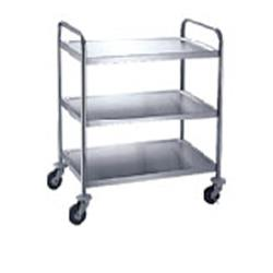 Winco - SUC-30 - 30 in x 16 in 3-Tier Stainless Steel Utility Cart image