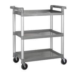 Winco - UC-2415G - 32 in x 16 1/4 in Gray Utility Cart image