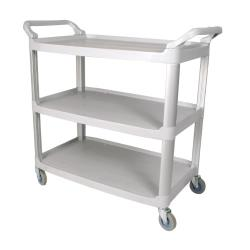 Winco - UC-35G - 33 1/4 in x 17 in Gray Utility Cart image