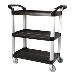 Winco - UC-35K - 33 1/4 in x 17 in Black Utility Cart image
