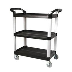 Winco - UC-40K - 40 in x 19 3/4 in Black Utility Cart image