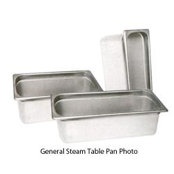 Winco - SPH1 - Half Size 1 1/2 in Deep Steam Table Pan image