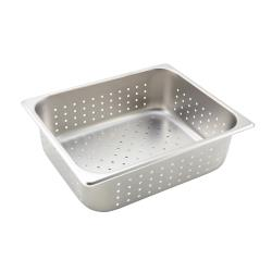 Winco - SPHP4 - Half Size 4 in deep Perforated Steam Table Pan image