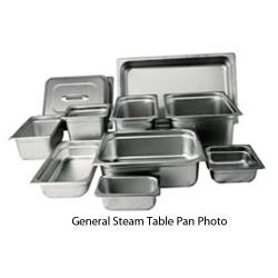 Winco - SPJH-1802 - Eighteenth Size 2 in Deep Steam Table Pan image