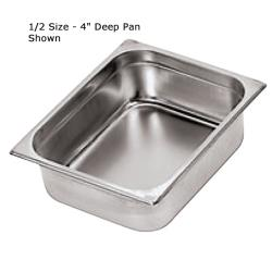 World Cuisine - 14103-10 - Two Third Size 4 in Deep Steam Table Pan image