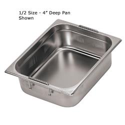 World Cuisine - 14158-10 - Fourth Size 4 in Deep Steam Table Pan image