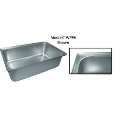 Winco - C-WPF6 - Full Size 6 in Deep Water Pan image