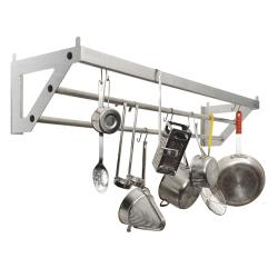 Focus Foodservice - FWMPR48SS - 14 in x 48 in Stainless Steel Pot Rack image