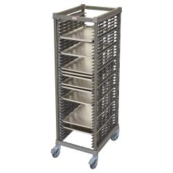Cambro - UPR1826FP40580 - 40 Pan Camshelving® Ultimate Knock Down Pan Rack w/ Plastic Casters image
