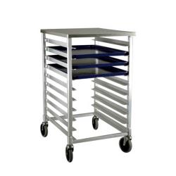 New Age Industrial - 1311 - 38 in Half Size Mobile Bun Rack With Work Top image