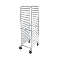 Winco - ALRK-20BK - 20-Tier Aluminum Sheet Pan Rack with Brakes image