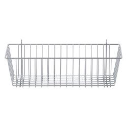 Metro/Intermetro - 17 3/8 in x 7 1/2 in Silver Wire Storage Basket image