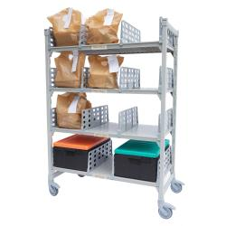 Cambro - CPM244875FX4480 - 48 in x 24 in Camshelving® Mobile Flex Station Unit image