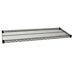 Focus Foodservice - FF1430G - 14 in x 30 in Green Epoxy Coated Wire Shelf image