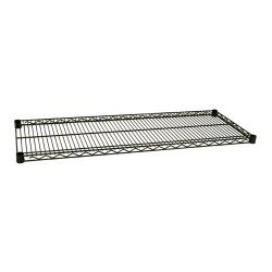Focus Foodservice - FF1848G - 18 in x 48 in Green Epoxy Coated Wire Shelf image