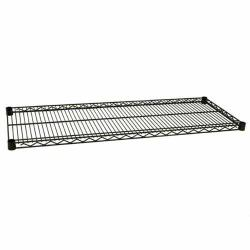 Focus Foodservice - FF1854G - 18 in x 54 in Green Epoxy Coated Wire Shelf image