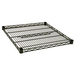 Focus Foodservice - FF2424G - 24 in x 24 in Green Epoxy Coated Wire Shelf image