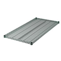 Winco - VEX-2472 - 24 in x 72 in Green Epoxy Coated Wire Shelf image