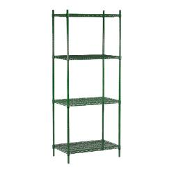 "Commercial - 14"" x 24"" 4 Shelf Epoxy Coated Shelving Unit image"