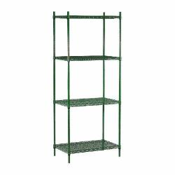 "Commercial - 14"" x 48"" 4 Shelf Epoxy Coated Shelving Unit image"
