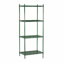 "Commercial - 14"" x 72"" 4 Shelf Epoxy Coated Shelving Unit image"