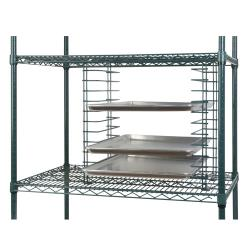 Focus Foodservice - FWTS12GN - Green Wire Tray Slide Rack image